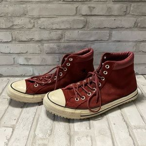 All-Star Converse Red Suede